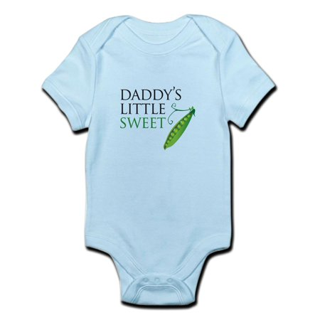 CafePress - Daddy's Little Sweet Pea Infant Bodysuit - Baby Light Bodysuit - Sweet Pea Popeyes Baby