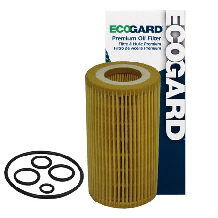 ECOGARD X5276 Cartridge Engine Oil Filter for Conventional Oil - Premium Replacement Fits Mercedes-Benz E350, C300, E320, ML350, ML320, C240, GLK350, GL450, S550, S430, CLK320, C230, SL500, S500