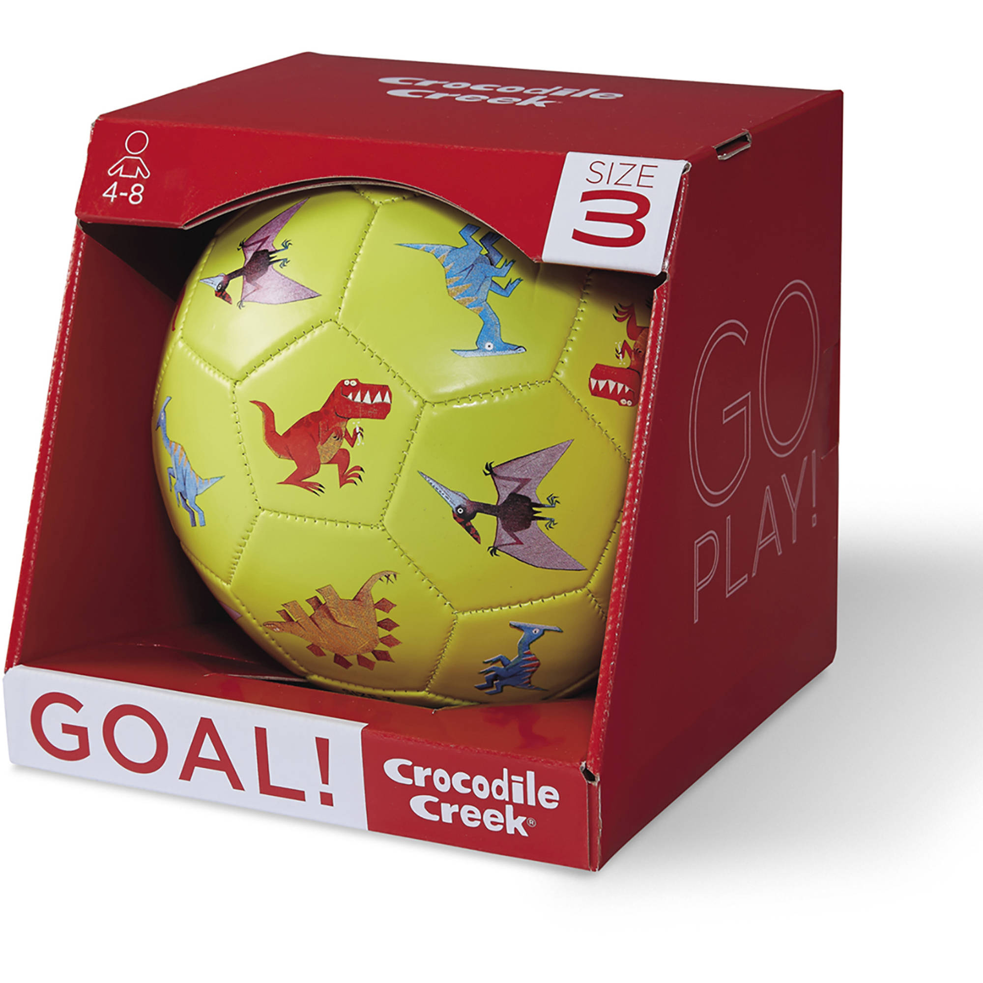 "Crocodile Creek Dinosaurs Kids Soccer Ball, 7"", Lime Green"