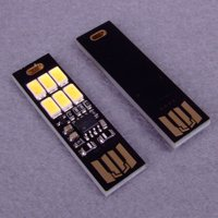 USB Power 6 LED Beads Night Light Touch Control Dimmable White Yellow Light Mini Lamp Color:White Light
