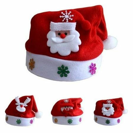 - Christmas Xmas Santa Claus Cap Reindeer Snowman Costume Santa Velvet Hat Party