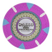 The Mint 13.5g Poker Chips, $5,000 Heavy Weight Clay Composite, 50-pack