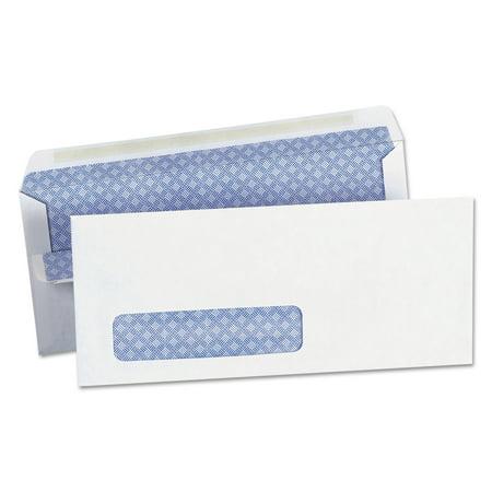 Universal Self-Seal Security Envelope, Window, #10, 4 1/8 x 9 1/2, White, 500/Box