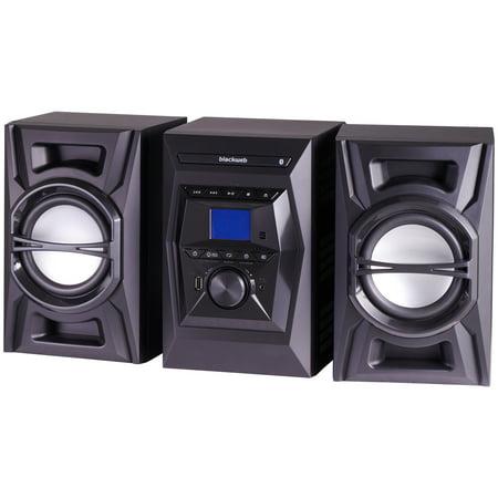 Blackweb 100 Watt Bluetooth Cd Stereo System Black With Led Lighting Effects