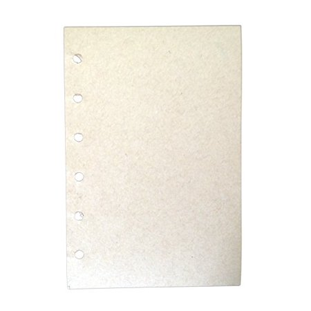 Lian LifeStyle 154 Sheets Leather Cover Loose Leaf Blank Notebook Journal Diary 6 Hole Inserts Plain White