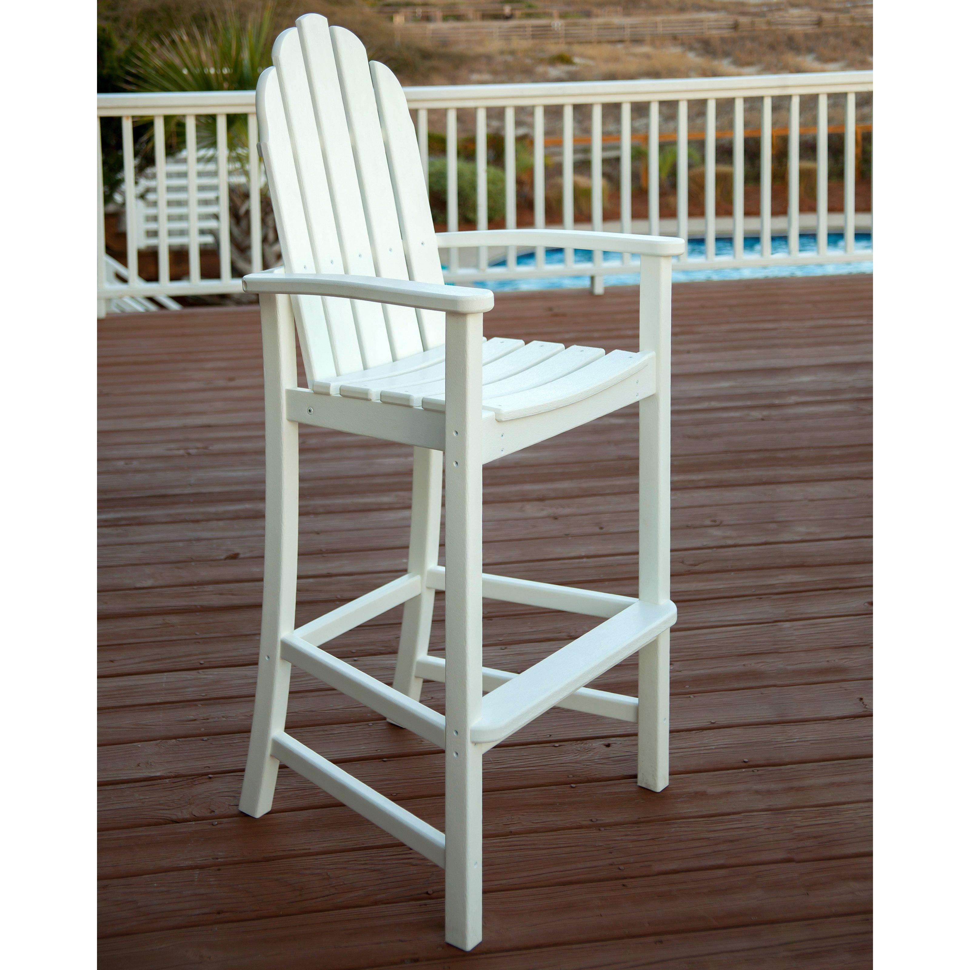 POLYWOODu0026reg; Adirondack Recycled Plastic Bar Height Chair   Walmart.com