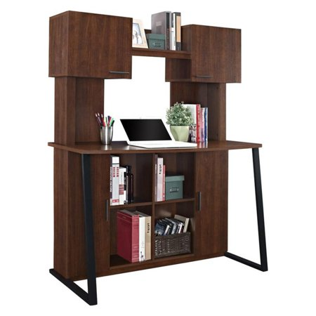 Premium Plus Hutch - Ameriwood Home Hanson Desk with Hutch, Cherry