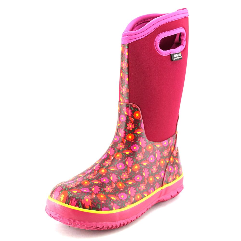Bogs Classic High Sweet Pea Youth  Round Toe Synthetic  Rain Boot