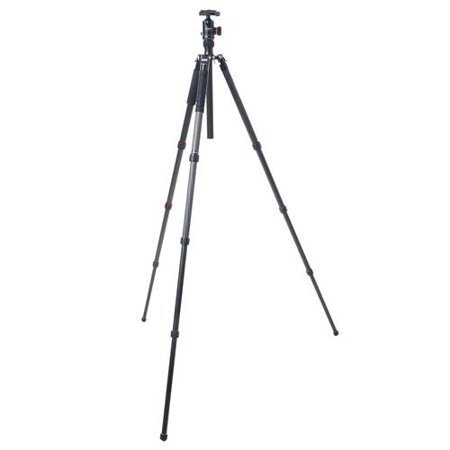 FotoPro X-Go Max 4-Section Carbon Fiber Tripod with Built-In Monopod, FPH-62Q Ball Head, 26 lbs Capacity, 67