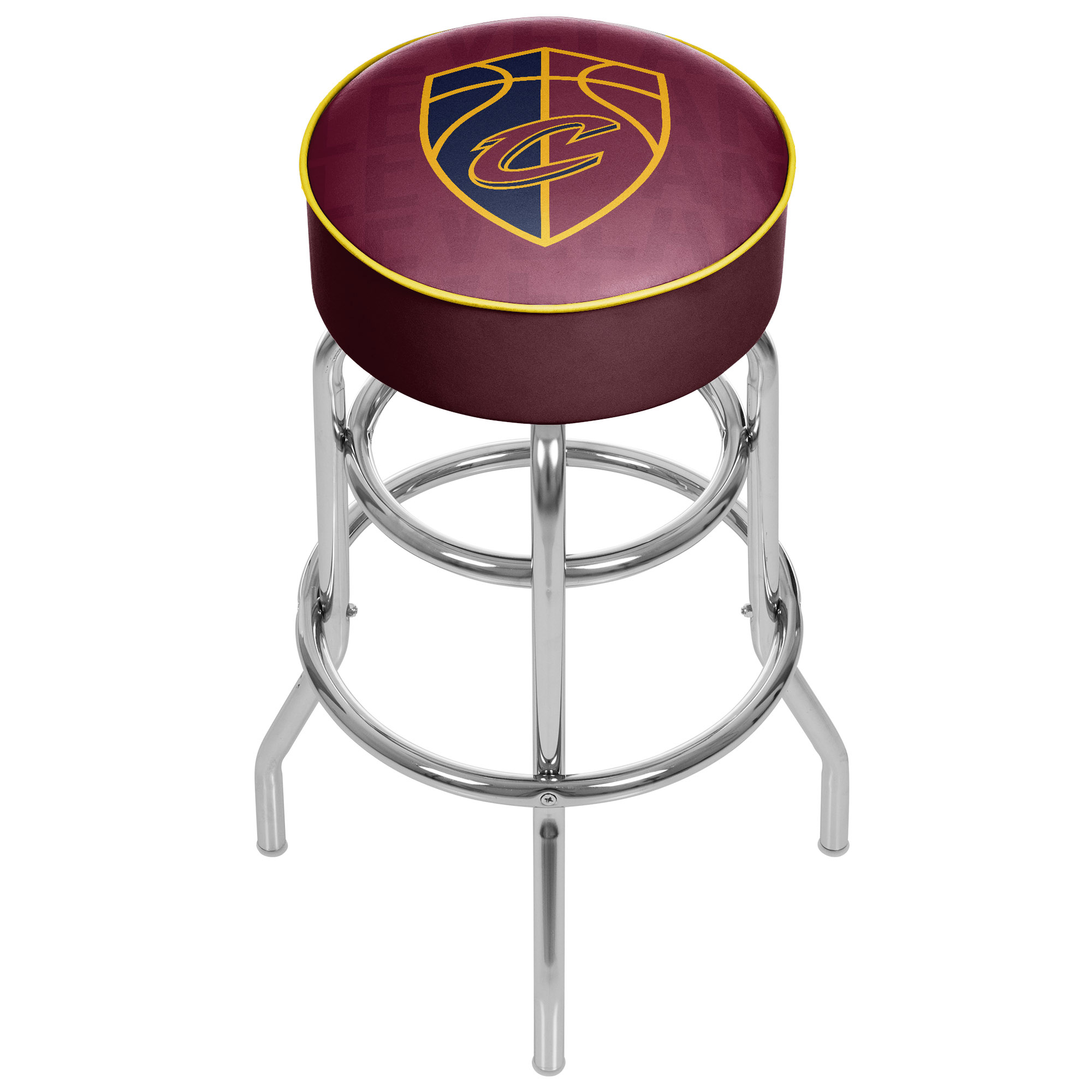 Image of Cleveland Cavaliers NBA Padded Swivel Bar Stool - City