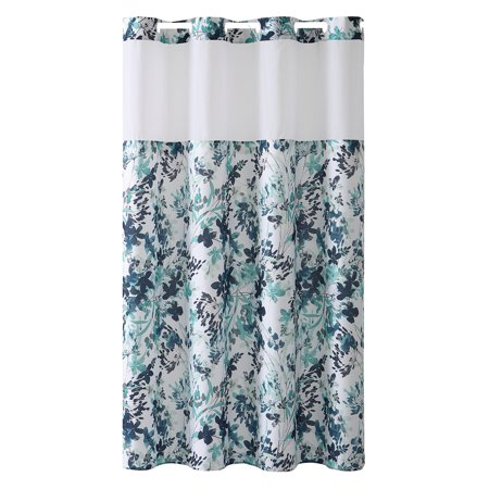 Hookless® Water Color Print Shower Curtain