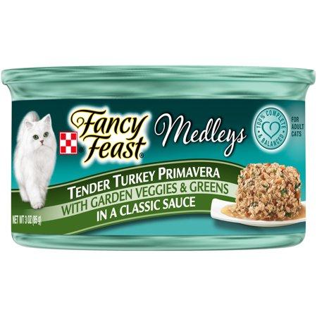 Tender Turkey - Purina Fancy Feast Medleys Tender Turkey Primavera Cat Food Case of 24- 3 oz. Cans