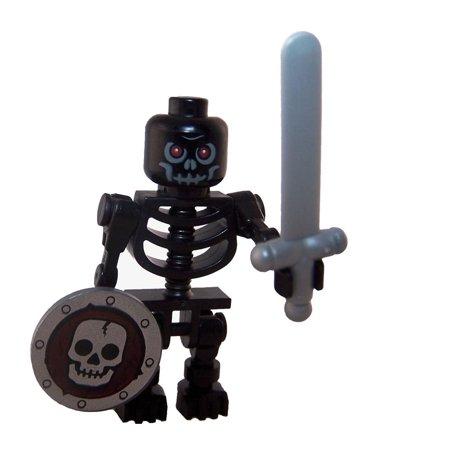 Black Lego Skeleton (LEGO Minifigure - Castle - BLACK SKELETON with Sword &)