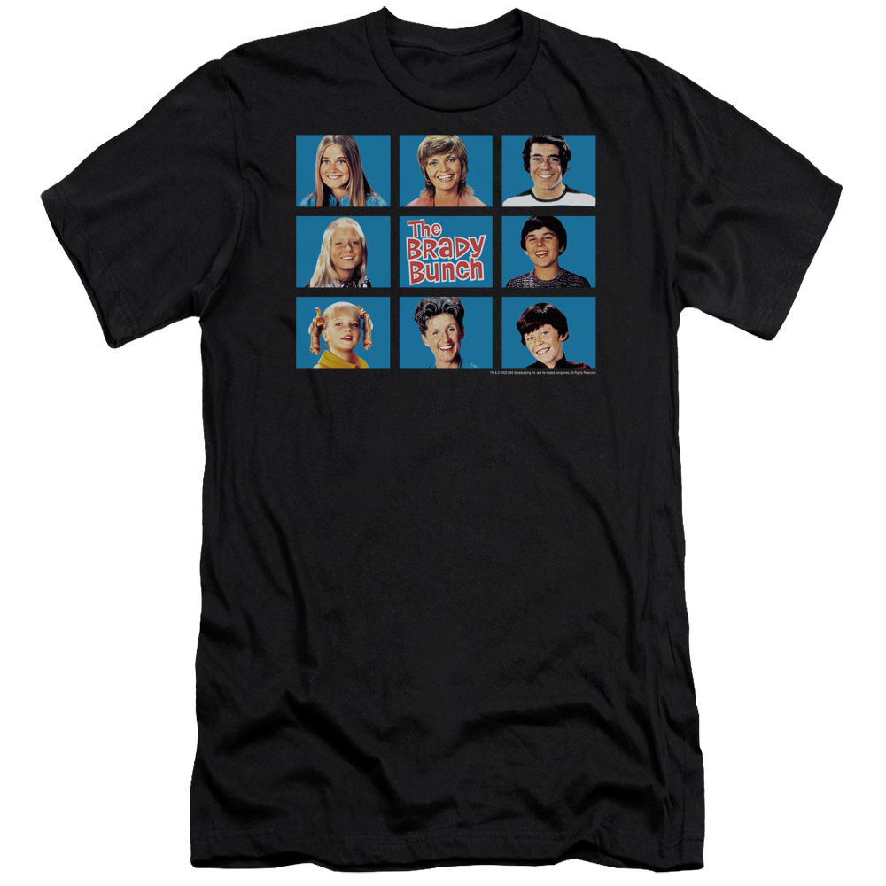 Brady Bunch Men's  Framed Slim Fit T-shirt Black