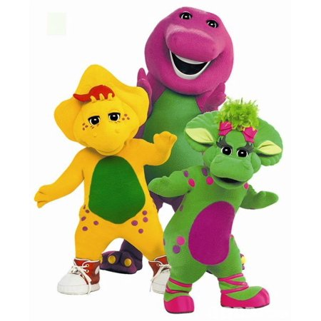 Barney Party Supplies (Barney the Dinosaur and Friends Edible Cupcake Toppers - Set of)