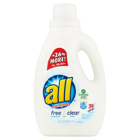 All With Stainlifters Free Clear Liquid Laundry Detergent  59 Fl Oz