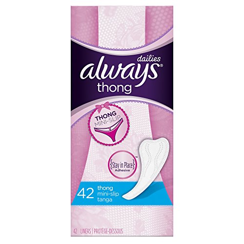 6 Pack - Always Pantiliners for Thong Unscented 42 Each