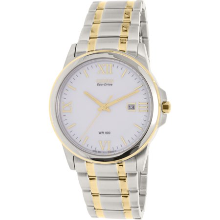Citizen Men's Eco-Drive BM7264-51A Silver Two-tone Stainless-Steel Eco-Drive Watch
