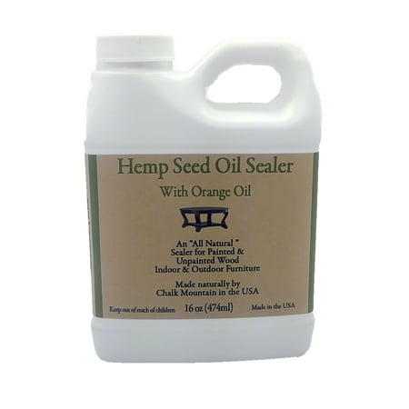Hemp Seed Oil Furniture Sealer - Seals and Protects Chalk, and Milk Paint, Furniture, Wood, and much much More! (Best Way To Strip Paint Off Wood Furniture)