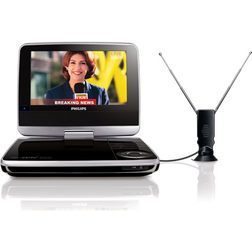 "Philips 7"" Portable DVD Player with HDTV Tuner, PET749/37"