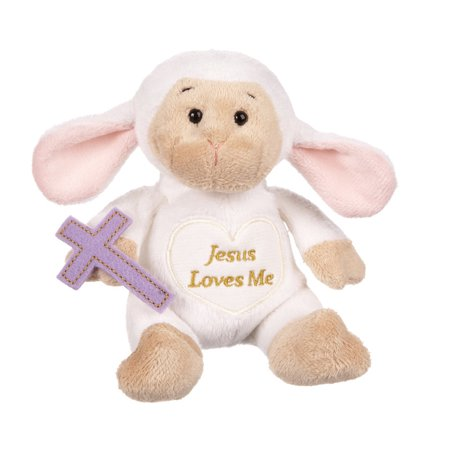 Inspirational Lambs Plush Toy: Jesus Loves Me - By Ganz (5in)