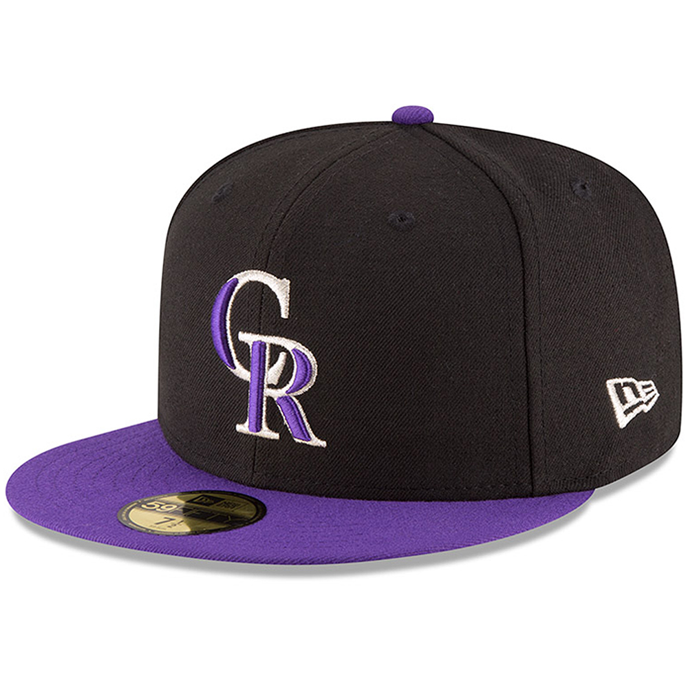 Colorado Rockies New Era Authentic Collection ON Field 59FIFTY Structured Hat - Black/Purple