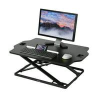 "Seville Classics AIRLIFT® Slim Standing Laptop Desk Converter Riser Height Adjustable to 15.7"" High, Black"