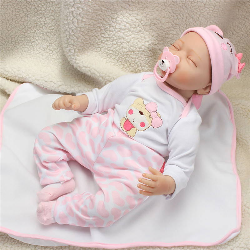 22'' Reborn Baby Girl Dolls Handmade Realistic Silicone ...