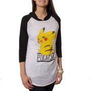 Pikachu Juniors' Graphic Hooded Raglan Tee