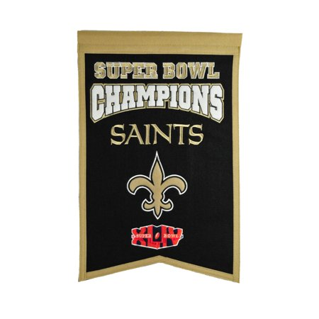 Winning Streak New Orleans Saints NFL Super Bowl Champions 14x21 Wool Felt Banner - New Orleans Saints Halloween Decorations