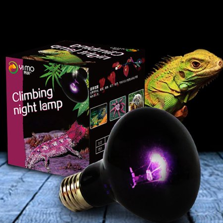 UVA Reptile Night Heating Lamp Bulb Imitation Moonlight Night Sleep Lighting Lamp for Lizard Snake Reptile Pets 220V E27 ()