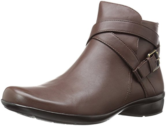 Naturalizer CASSANDRA Womens Brown Leather Zip Up Ankle Boots by Naturalizer
