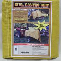 10X20 10OZ CANVAS TARP
