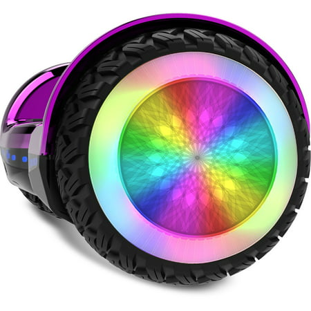 Gyrocopters PRO 6.0 Off-Road Hoverboard - UL 2272 Certified with Bluetooth, LED wheels, APP, No Fall Technology, Front and Back lights (Purple) - image 2 of 10