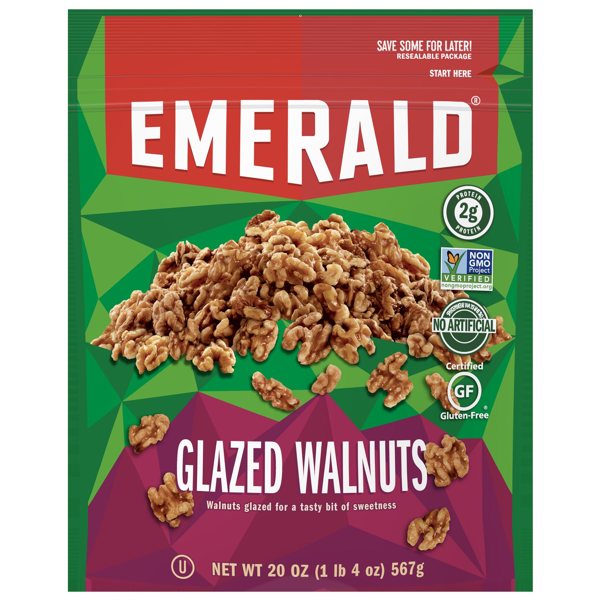 (2 Pack) Emerald Nuts Glazed Walnuts, 6.5 Oz