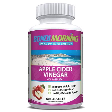 Raw Apple Cider Vinegar Capsules - All Natural [High Potency 1300mg] Apple Cider Vinegar Supplement for Weight Loss Support, Appetite Control, Energy & Metabolism Boost - 60