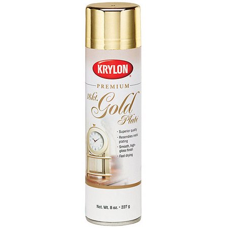 Metallic Spray Paint 8 Ounces, 18 Karat Gold