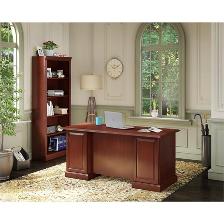 kathy ireland Office Manager's Desk and Bookcase in Harvest Cherry - image 1 de 8