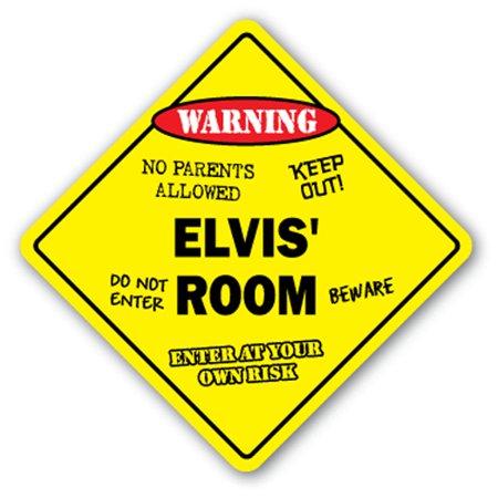 ELVIS' ROOM SIGN kids bedroom decor door children's name boy girl gift