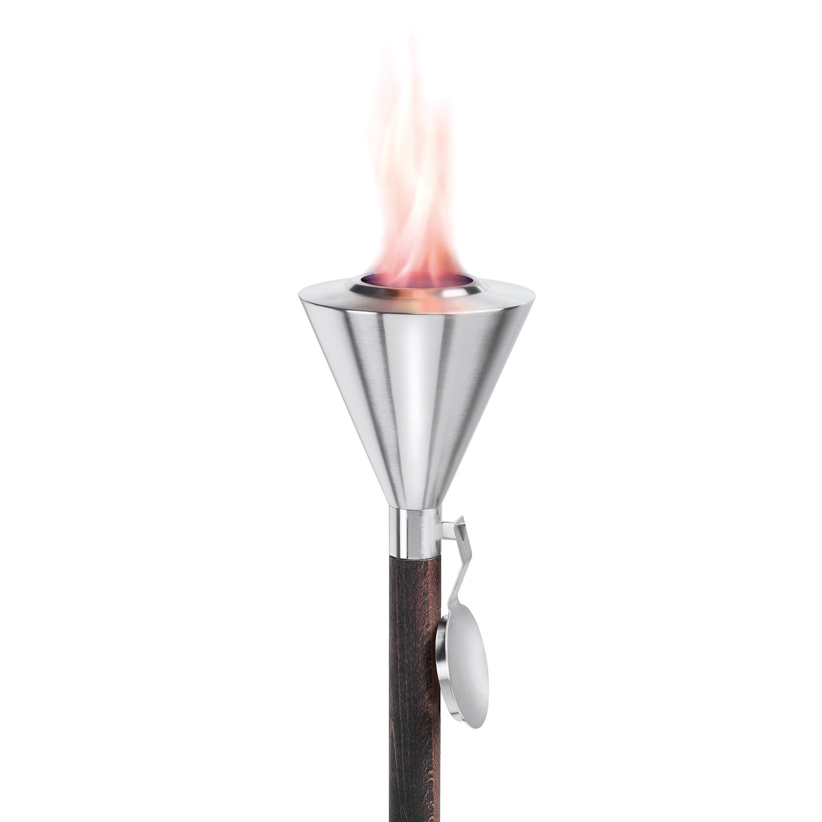 Orchos Wide Garden Torch Stainless Steel & Beechwood 60.25 in. by Blomus