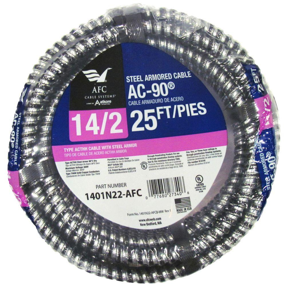 Afc Cable Systems 1401N22-AFC 25-Ft. 14/2 ACT Armored Cable