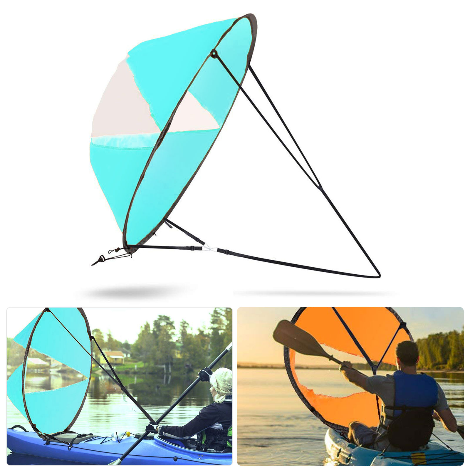 "42"" Kayak Boat Wind Sail Sup Sailboat Paddle Board Sailing Windpaddle Canoe Kit"