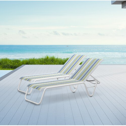 Latitude Run Maust Reclining Chaise Lounge (Set of 2)