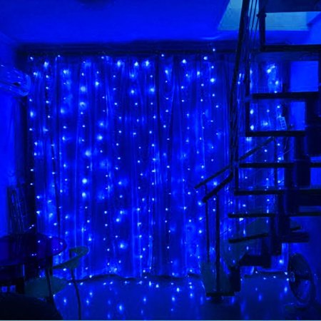 Torchstar x led curtain lights starry - String lights living room ...