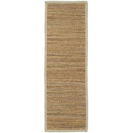 Natural Fiber Sonora Prague Rectangle 2 ft 6 inch x 7 ft 9 inch Plush Indoor Runner Rug ()