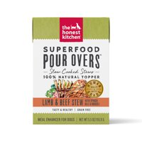 The Honest Kitchen Superfood POUR OVERS Lamb & Beef Stew with Spinach, Kale, & Broccoli, 5.5oz