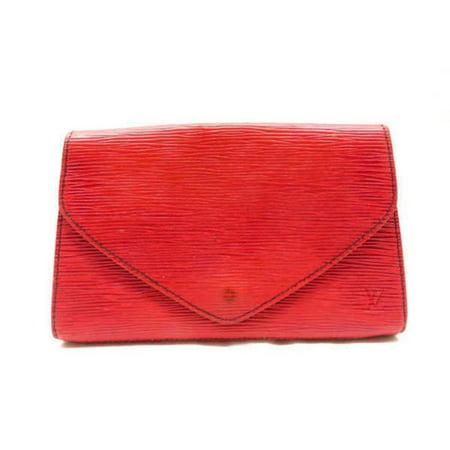 Louis Vuitton Red Epi Leather Art Deco Envelope Clutch Pochette 236046