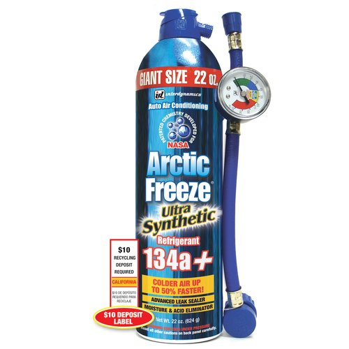 Arctic Freeze Auto AC Recharge Ultra Synthetic R-134a Kit, 22 oz