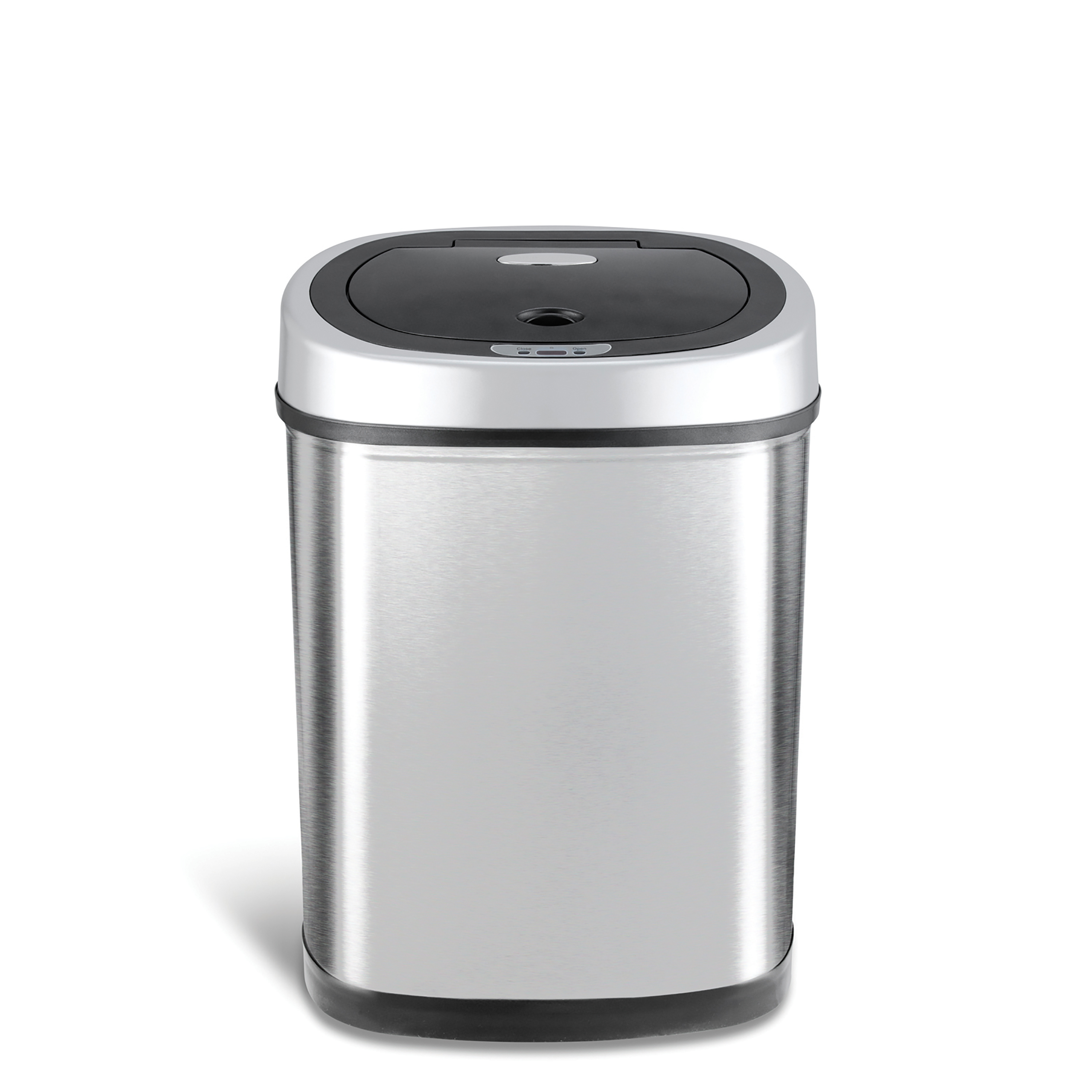 Nine Stars Motion Sensor Oval Touchless 11 Gal Trash Can, Stainless Steel by Nine Stars