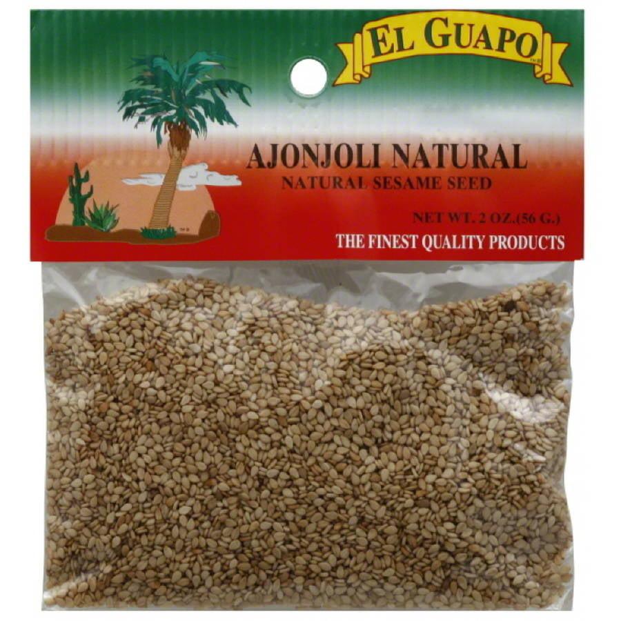 El Guapo Natural Sesame Seed, 2 oz, (Pack of 12)